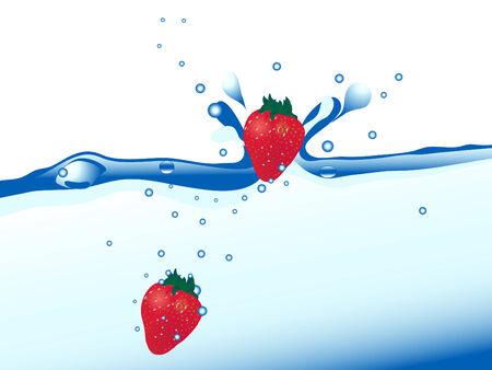 wavelet: Fresh strawberries in the water