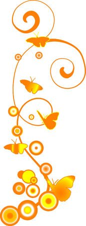 wavelet: Yellow and orange background with butterflies