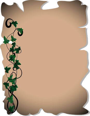 Parchment with ivy Vector