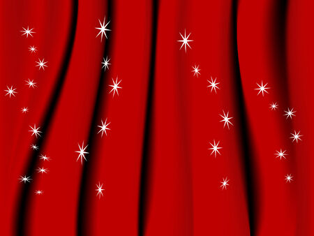 sateen: Vector red background with stars