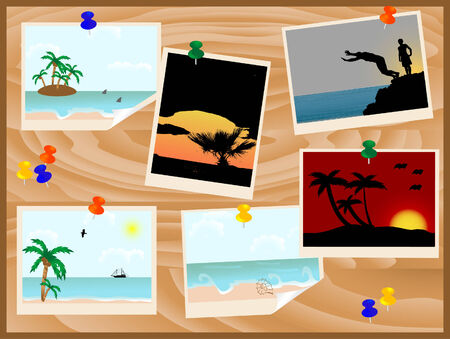 wavelet: Notice board with summer photos