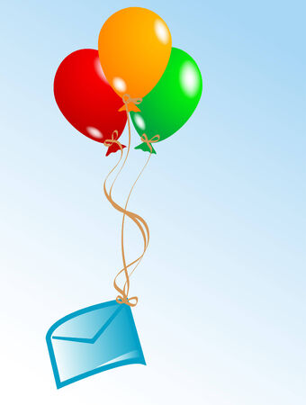 Party background with colorful balloons Illustration