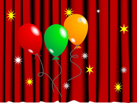 Party background with colorful balloons Vector