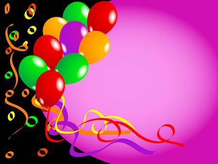 Party background with colorful balloons Stock Vector - 3143368