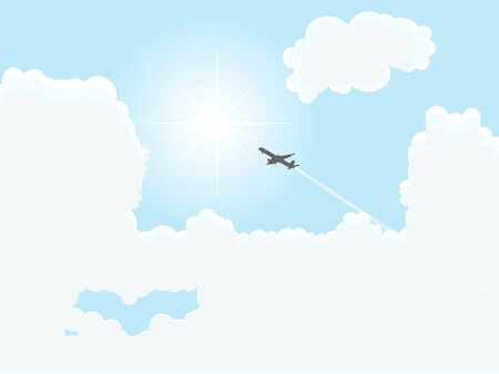 luminary: Vector illustration of cloudy sky