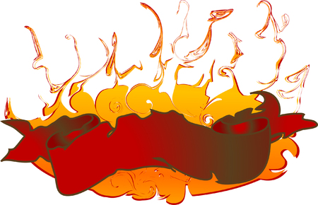 Banner for text with fire Stock Vector - 3230687