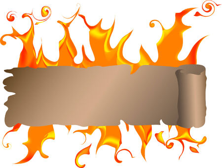 Banner for text with fire Vector