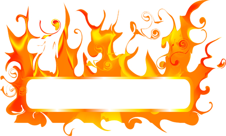 Banner for text with fire Stock Vector - 3230691