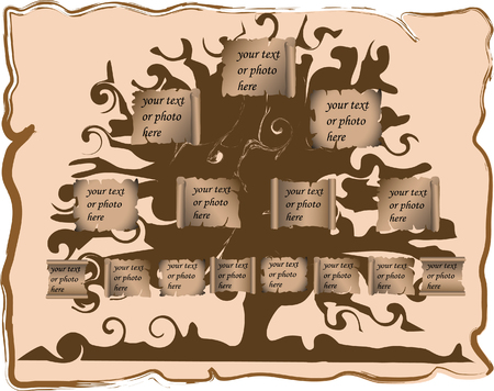 Vector illustration of genealogic tree Stock Vector - 3243166