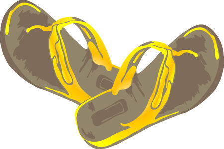 Vector illustration of yellow slippers Vector