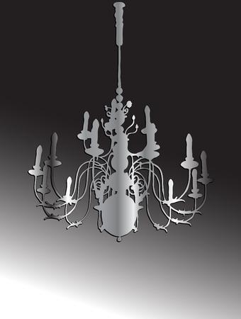 Vector illustration of silver chandelier Stock Vector - 3283665