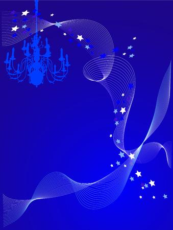 Vector illustration of chandelier on blue background Stock Vector - 3283662