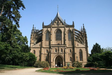 orison: St.Barbaras Cathedral in Kutna Hora,Czech republic