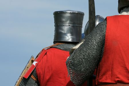 hauberk: Close up of historical armys soldiers