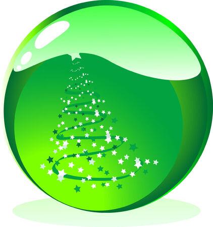 Glass christmas ball - vector illustration Stock Vector - 3338319