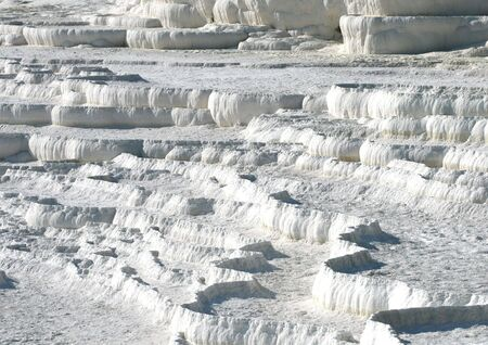 Travertine terraces in Pamukkale, Turkey photo