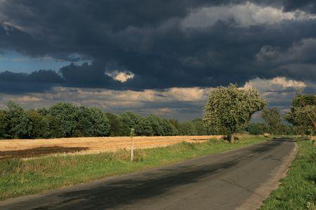 Landscape before the storm photo