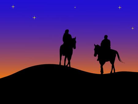 horseman: Cita secreta en la puesta de sol Vectores