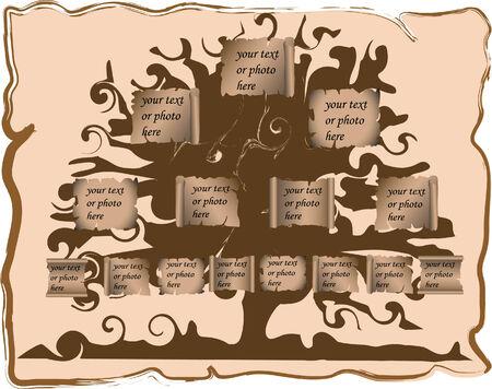 Vector illustration of genealogic tree Stock Vector - 3459493