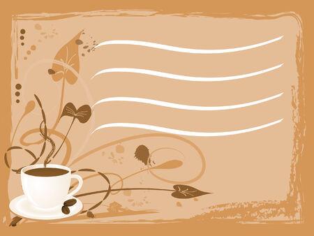 Coffee menu in brown color Vector