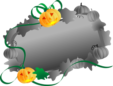 Vector illustration of banner with pumpkins Vector
