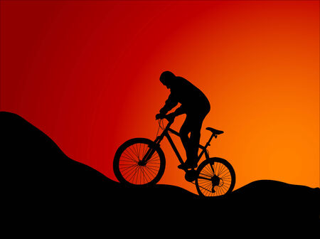 bicicleta vector: Ilustraci�n vectorial de bicicleta de monta�a