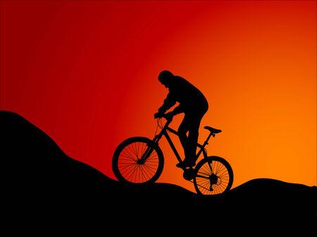 Vector illustration of mountain bike Stock Vector - 3678543