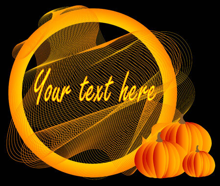 Abstract  with three pumpkins Vector