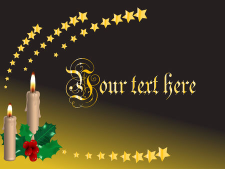 Christmas background with the candles Vector