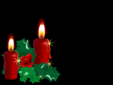 advent candles: Christmas background with the candles