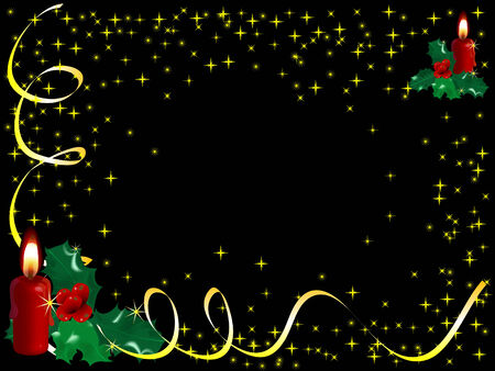 candleholder: Christmas background with the candles
