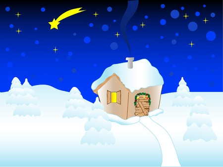 Vector illustration of the little house Stock Vector - 3755253