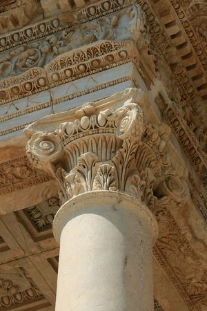 chaplet: Detail of ancient chaplet in Ephesus,Turkey Stock Photo