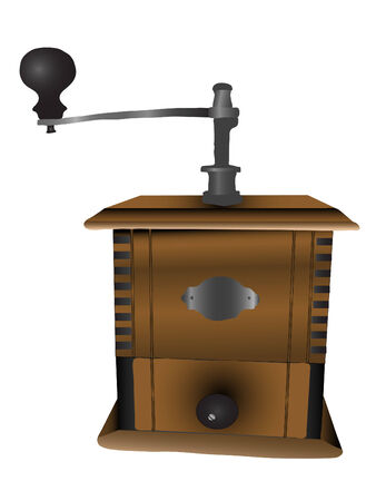 coffee mill: Realistic vector illustration of coffee mill Illustration