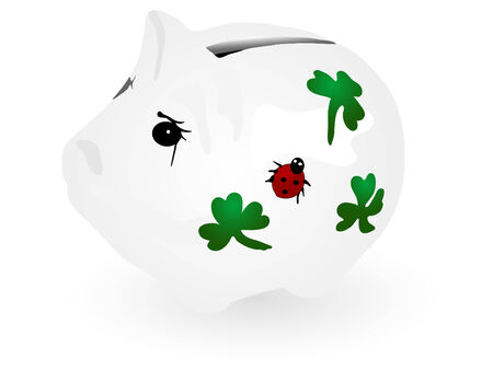 windfall: Vector illustration of piggy bank