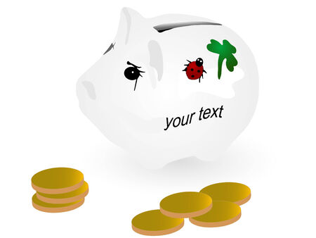 Vector illustration of piggy bank Vector