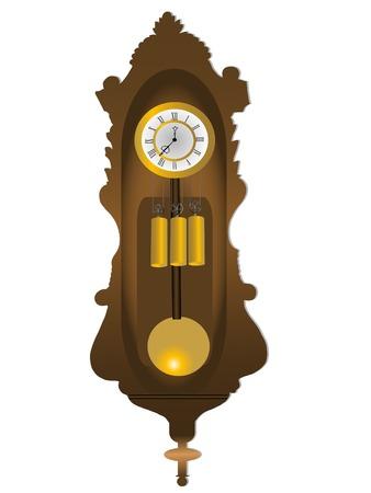 reloj de pendulo: Ilustraci�n vectorial reloj de p�ndulo