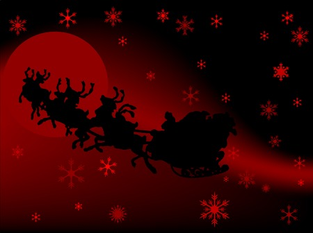 Abstract background with Santa�s sledge Vector