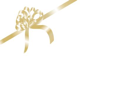 Golden christmas ribbon - vector illustration Vector