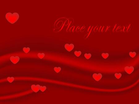 Red valentine background - vector illustration Vector