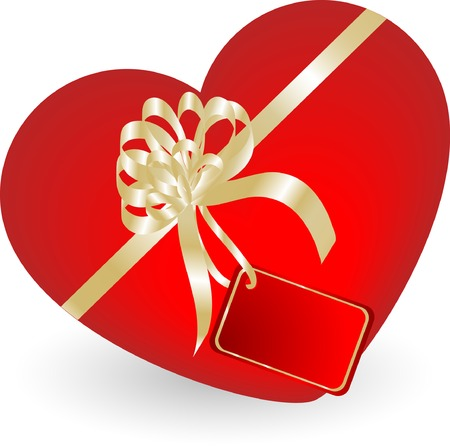 Valentine heart gift box - vector illustration Stock Vector - 3916366