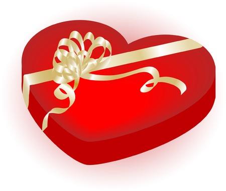 Valentine heart gift box - vector illustration Stock Vector - 3916365