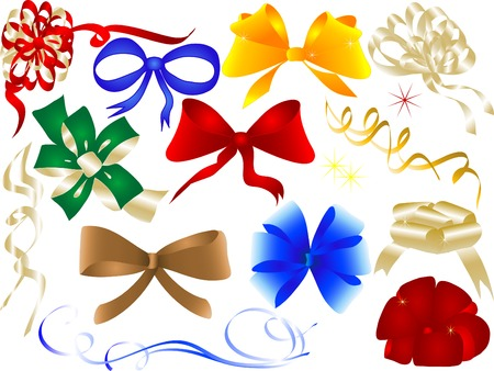 Set of bows and ribbons - vector illustration Vector