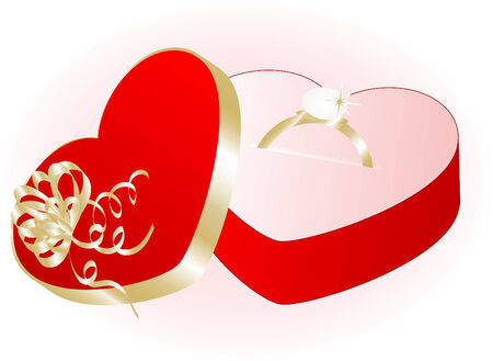 Valentine gift with the ring Stock Vector - 4015052