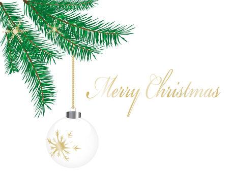 spruce: Vector de fondo con el abeto de Navidad ramita