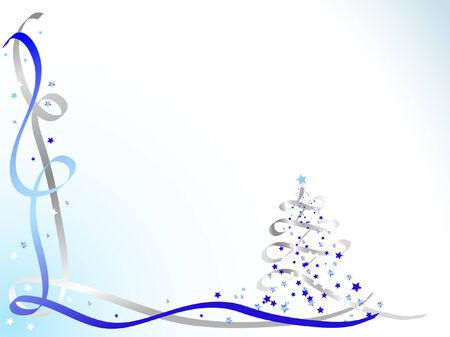 noel argent�: Bleu et Argent christmas background