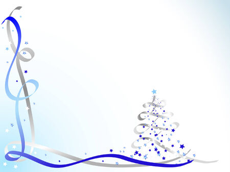 Blue and silver christmas background Stock Vector - 4015064