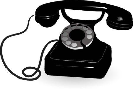 Vector illustration of retro phone