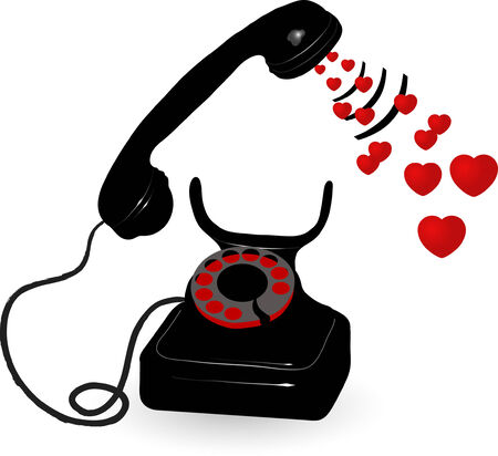 amor: Vector illustration of old phone