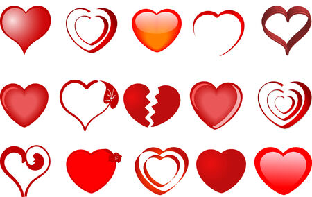 Collection of hearts - vector illustration Vector